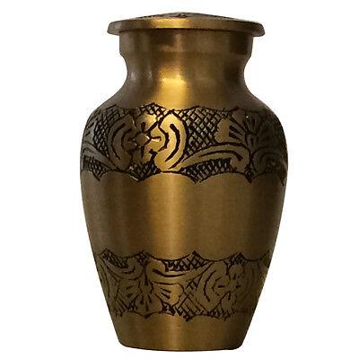 Gold Elegant Small Keepsake Urn for Ashes, Memorial Cremation Urn UK