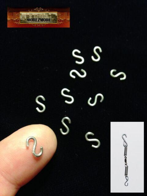 M01045 MOREZMORE 50 Mini Small 11 mm S-Hooks BJD Doll Spring-Hook Assembly