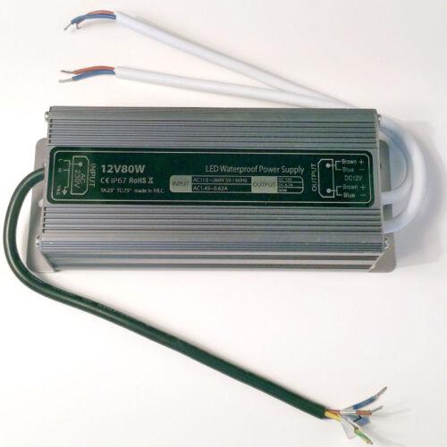 LISSEK 20W 36W 60W 80W 150W LED-Trafo Transformator Treiber IP67 Netzteil …