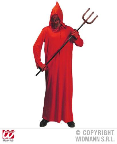 bambini Costume DIAVOLO con maschera con cappuccio rosso 128,140,158 Carnevale Halloween