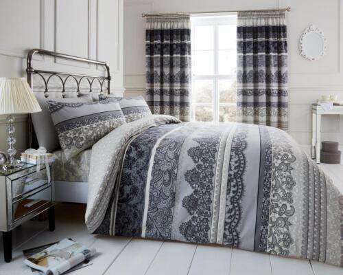 Reverie Luxury Stripe Duvet Covers Quilt Cover Reversible Bedding Sets All Sizes