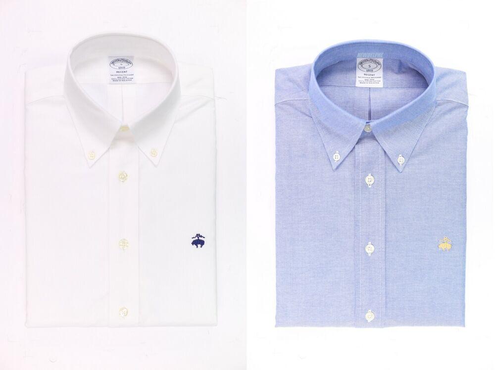 Initiative Neuf Avec étiquettes Brooks Brothers Hommes à Manches Longues Regent Fit Oxford Sport Shirt 100% Coton Supima