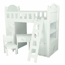 Doll Bunk Bed Loft Fits American Girl 18 Inch Dolls Furniture Desk Ladder New