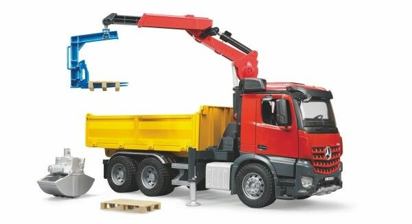 Bruder Bruder Bruder 03651 MB Arocs Baustellen LKW mit Kran und Schaufelgreifer    Praktisch Und Wirtschaftlich  6a9dd7
