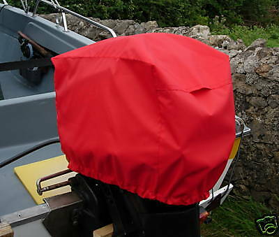 Waterproof /& Vented Outboard Motor Boat Engine Cover 2-5 HP Size 1 Red UK Made