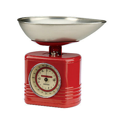 Typhoon Vintage Kitchen Traditional Kitchen Scales - Red, Black, Cream, Blue