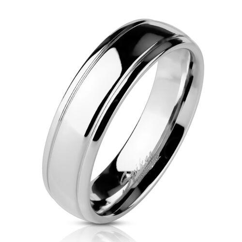 BAGUE ANNEAU DE FIANCAILLE MARIAGE HOMME FEMME ACIER MASSIF PAS CHER NEUVE M0021