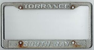 Image is loading RARE-Torrance-California-South-Bay-Volvo-Vintage-Dealer-  sc 1 st  eBay : dealer plate holder - pezcame.com