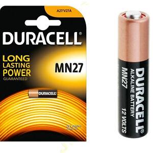 1 x DURACELL MN27 27A A27 12v Alkaline Battery E27A EL812 L828 G27A | eBay