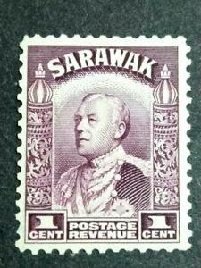 Malaya-Sarawak-1934-Sir-Charles-Vyner-Brooke-1c-1v-MLH