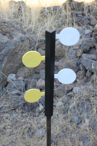 Dueling Tree Target Combo Set 4 Rimfire /& 4 Large Caliber Pistol AR500 Paddles