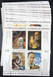 Canada-Sc-1818-34-1999-2000-Millennium-stamp-sheets-mint-NH-Free-Shipping