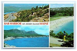 Postcard-Bar-Harbor-Mt-Desert-Island-Maine-Otter-Cliff-Sand-Beach-A2