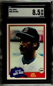 1981 Topps #500 JIM RICE Boston Red Sox SGC 8.5 NM/MT+