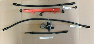 S2K-HONDA-K20-K-Swap-EG-EK-DC2-Fuel-Set-Up-AN6-Black-Braided-Red-Fuel-Rail-Kit