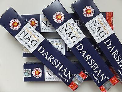 15 Gramm Golden Nag Champa Darshan  - incense sticks Räucherstäbchen