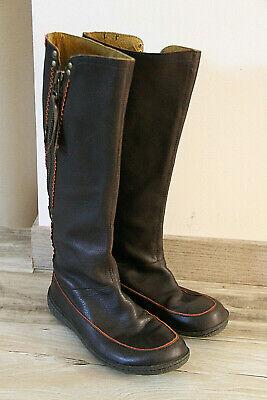 jolies bottes hautes zippé cuir chocolat CAMPER pointure 38 excellent état | eBay