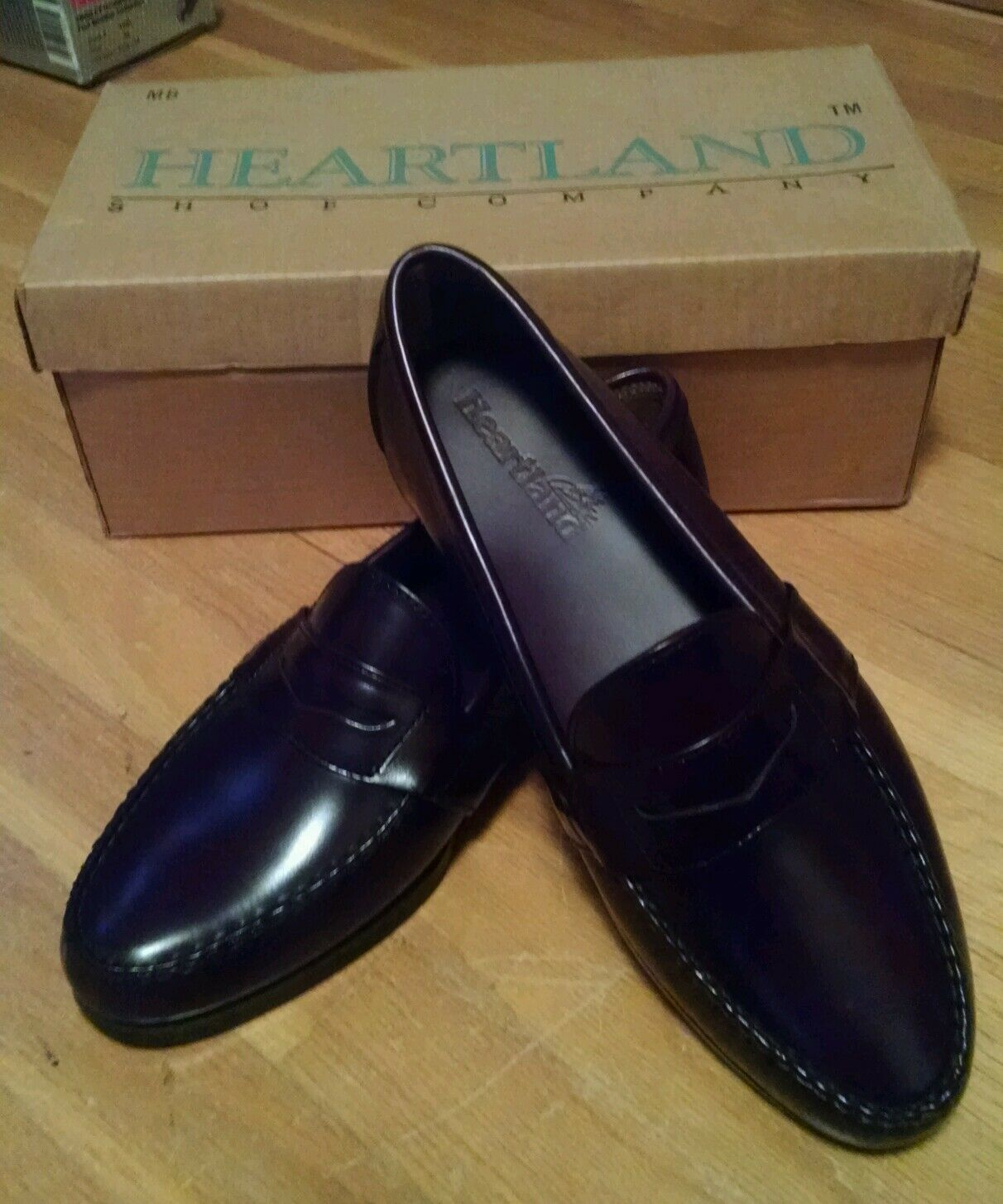 Full Strap Penny Loafers – Heartland – Men's Size 11 ½ M  NEW with BOX
