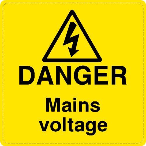 10 x tension réseau Danger Avertissement Sécurité étiquettes signes