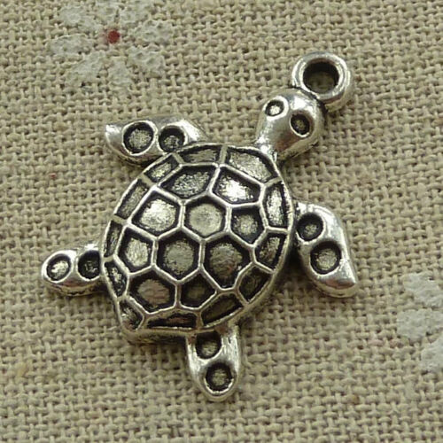 free ship 140 pieces tibetan silver tortoise charms 29x24mm #3639