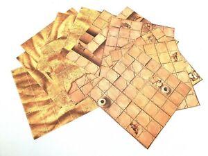 """6""""x6"""" Modular Flip Tiles Desert Temple/Sands RPG Map game mat dnd D&D pathfinder"""