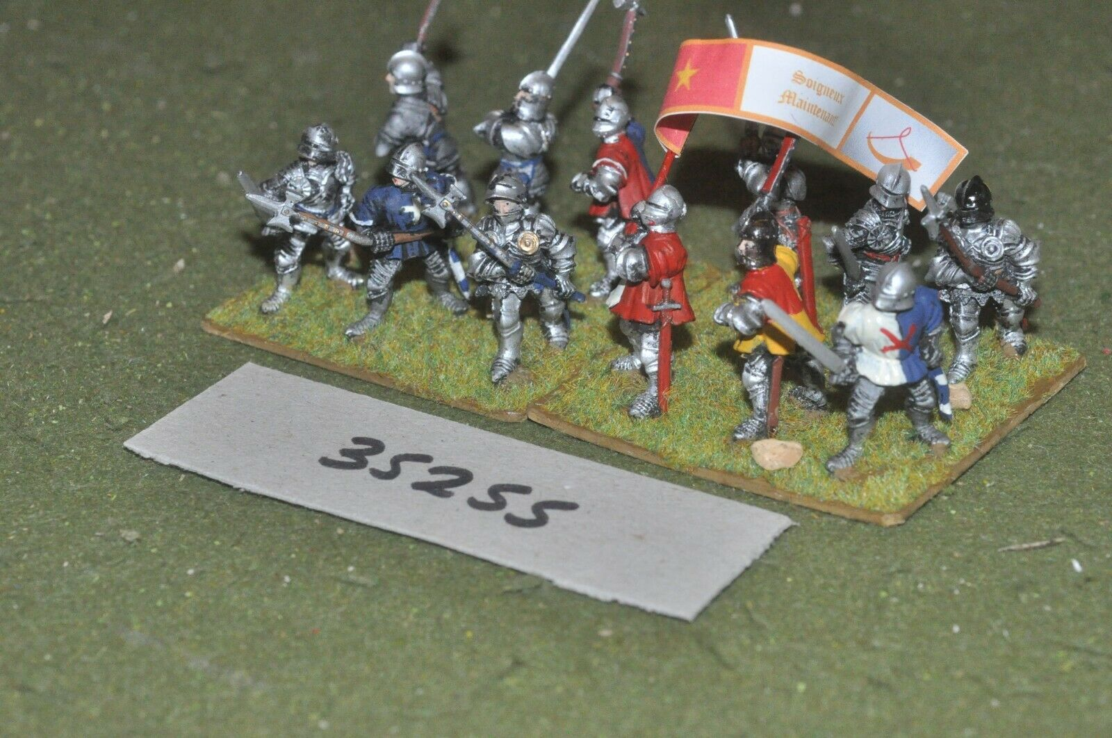 25mm medieval   burgundian - dismounted men at arms 12 figures - inf (35255)