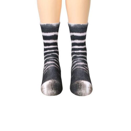 Unisex Men Cotton Women Crew Hoof Tube 3D Printed Funny Animal Paw Socks Kids