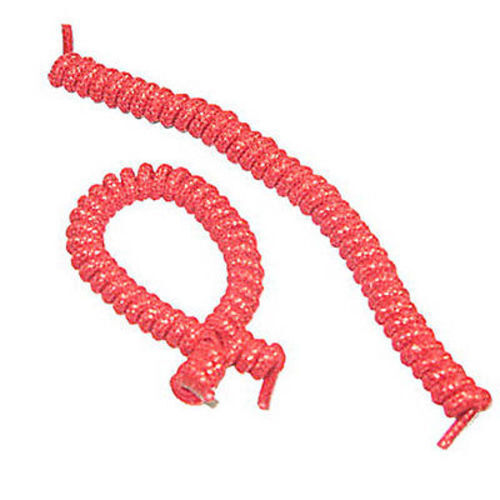 Curly Elastic Shoe Laces No Tie Twister Coil Red Metallic
