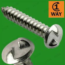 "6x One Way Security; Screws In But Not Out, Tamper & Vandal Proof, No.8 1"" 25mm"