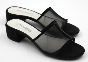 Jeffrey-Campbell-Beaton-Womens-Suede-Slide-Low-Heel-Sandals-Black-Size-6-New