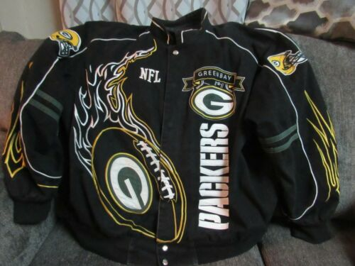 NFL Green Bay Packers black denim VARSITY JACKET C