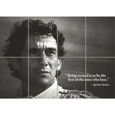 AYRTON SENNA QUOTE F1 GRAND PRIX GIANT ART POSTER PRINT WA461