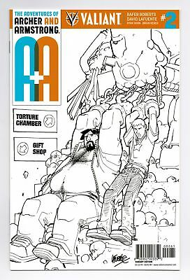 A&a Archer Armstrong #2 1:50 Lafuente B&w Variant Valiant Comics Vei Vf 2016