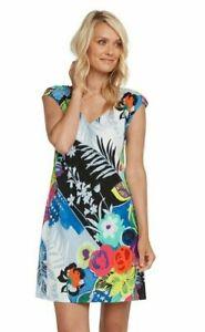 Jams-World-Sherry-Dress-Tropical-Love-Print-Sundress-Large-Made-in-USA