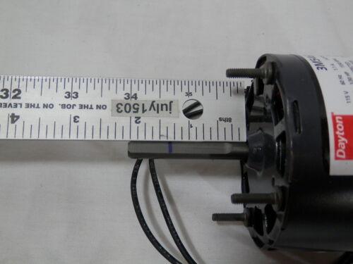 "NEW Dayton 3M546 3.3/"" HVAC Motor 5//16/"" Shaft 1550 rpm CW 120 volt 1//30 hp 1"