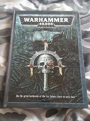 Inventivo Warhammer 40k Core Delinea 2004 4th Edizione Games Workshop 40000 Rilegato Libro-mostra Il Titolo Originale Ritardare La Senilità