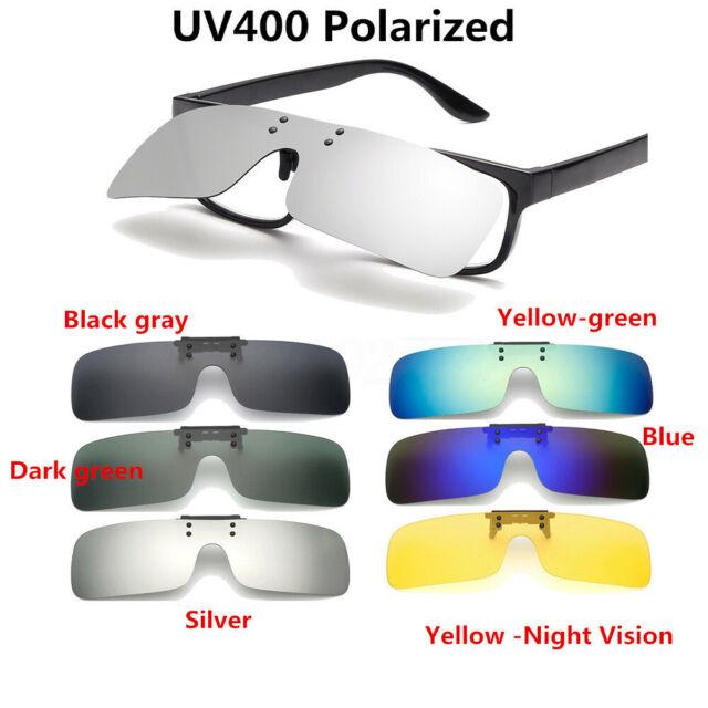 Lentes polarizadas Flip-Up Clip en gafas de sol UV400 Gafas de Conducción Noche
