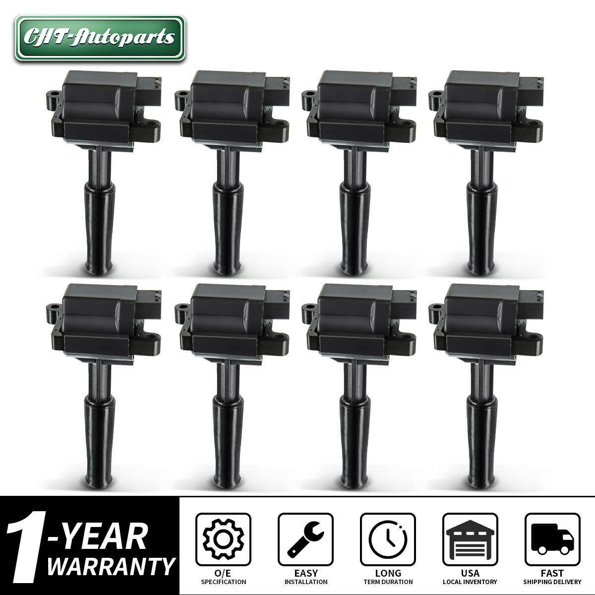 Ignition Coil Pack for Jaguar Vanden Plas XJ8 XJR XK8 XKR 1999-2003 4.0L Petrol