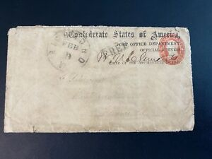 "Confederate Civil War POST OFFICE DEPT. Signed ""B. N. Clements"""