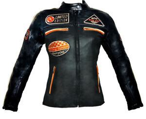 Pelle Racer Tech Nero In Moto Arancio S Giacca Cafè eBay Donna 0B8tXxwA