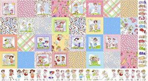 Loralie-Medley-You-Golf-Girl-Golfing-Ladies-Cotton-Fabric-24-034-X44-034-Panel