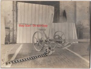 Details about RARE Prototype Sickle Bar Mower Photo - Robinson 1890  International Harvester?