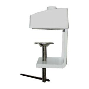 Tischklemme-Tischhalterung-fuer-Lupenleuchte-massiv-weiss-Montagefuss