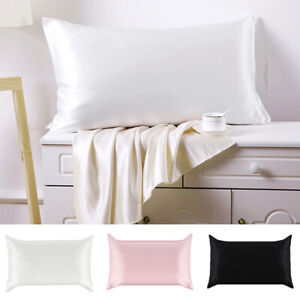 100-Pure-Mulberry-Silk-anti-age-Pillowcase-Luxurious-25-Momme-3-colors-Queen-St