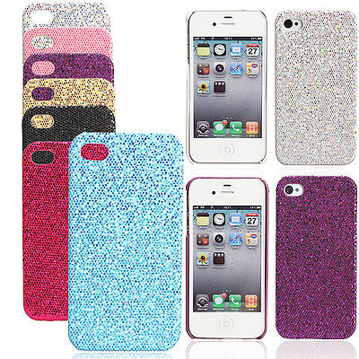 New Sparkle Glitter Case Back Cover Shell Protector for iPhone 4 4G 4S
