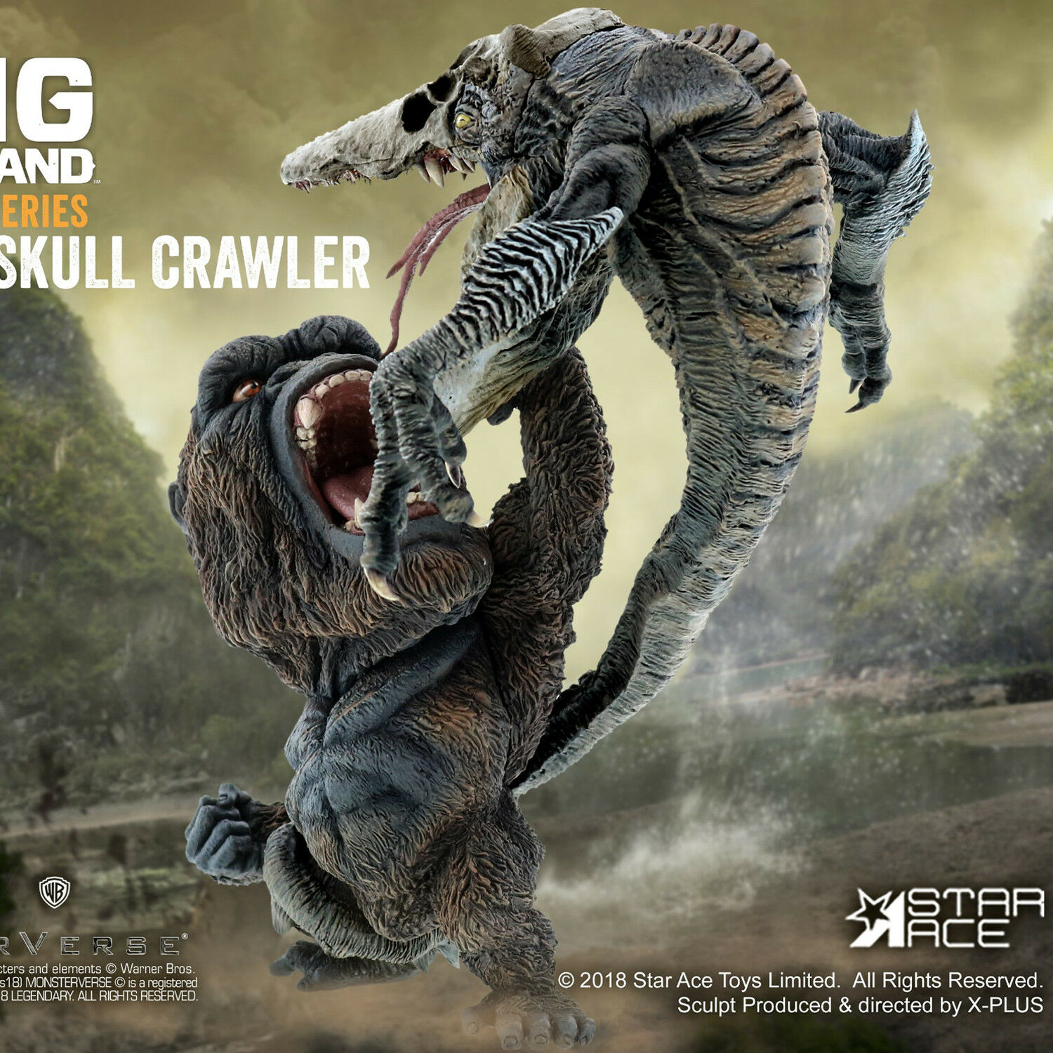STAR ACE Toys Kong Skull Island DF Kong VS Skull Crawler Statue Collectible New