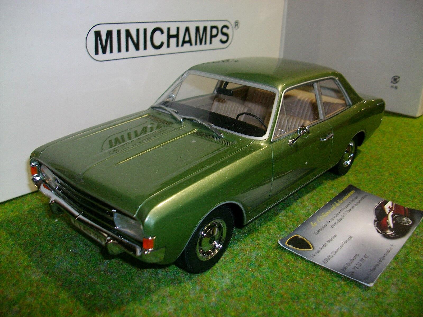 OPEL REKORD C SALOON SALOON SALOON verdee 1966 au 1 18 MINICHAMPS 107047000 voiture miniature b92103