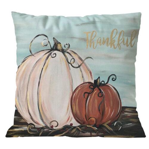 Halloween Pumpkin Cushion Cover Square Pillow Case Thanksgiving Day Decor