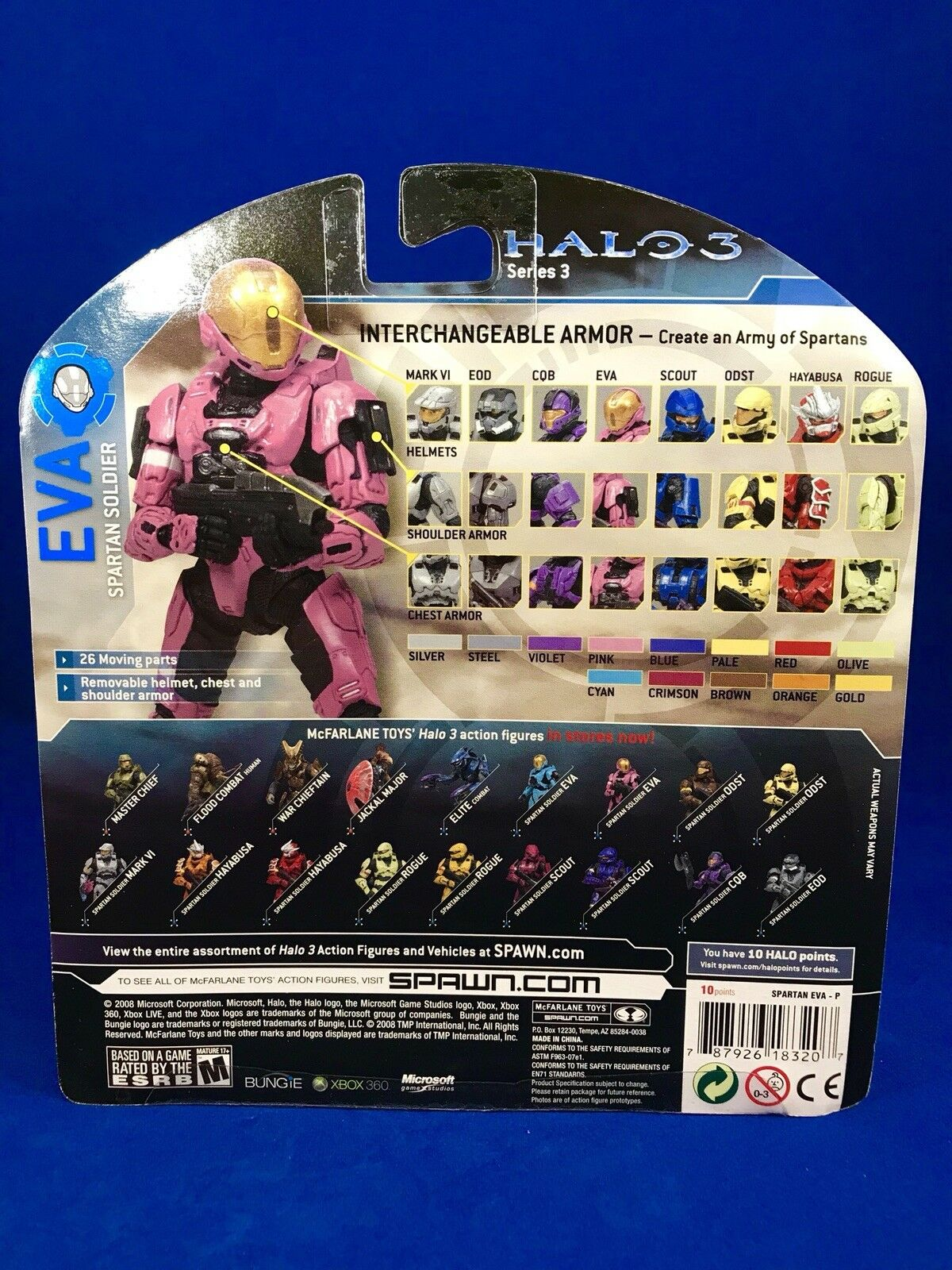 McFarlane Halo 3 Set Of 3 3 3 PINK D&R Lineups Exclusives