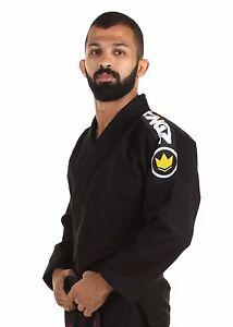 Kingz-Grund-2-0-Schwarz-Bjj-Gi-Brasilianischer-Jiu-Jitsu-Kimono-Uniform-Gratis